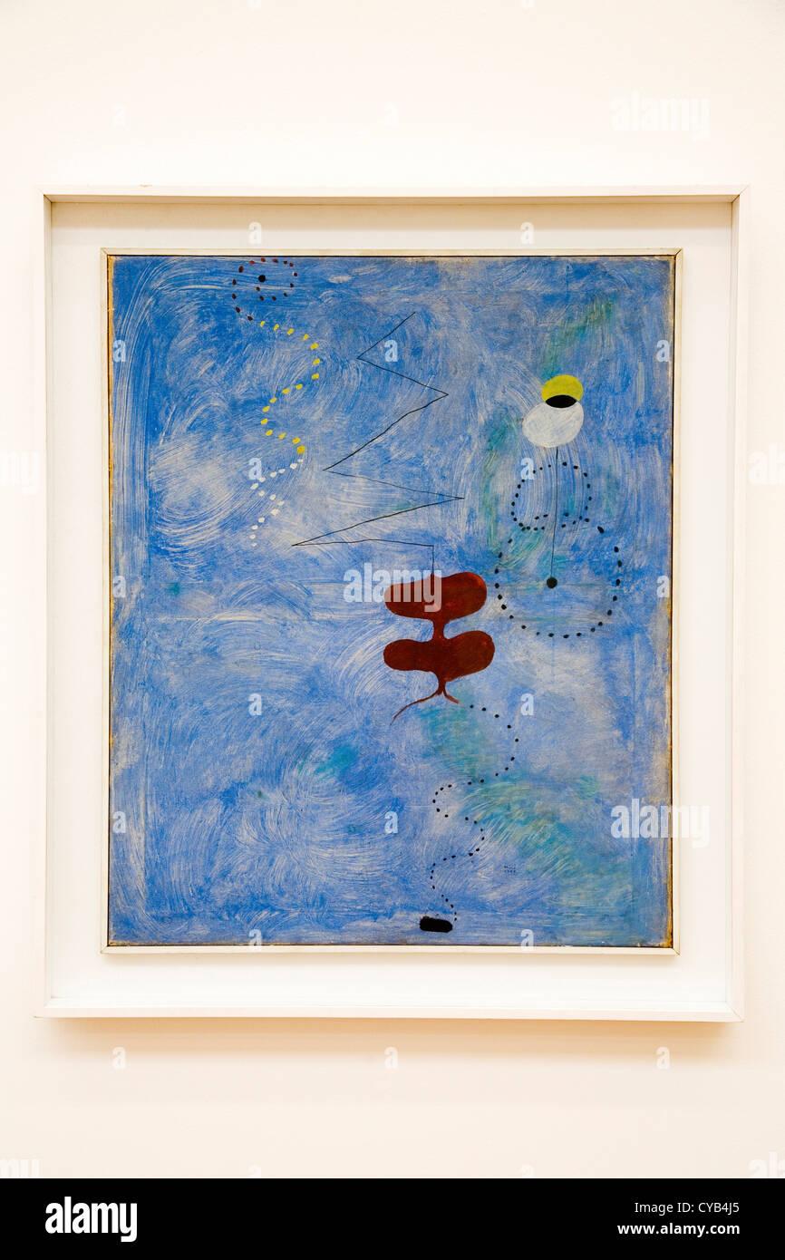 L'Europa, la Svizzera, Zurigo, Kunsthaus, museo d'arte, la composizione, la pittura di Joan Miro, 1925 Immagini Stock