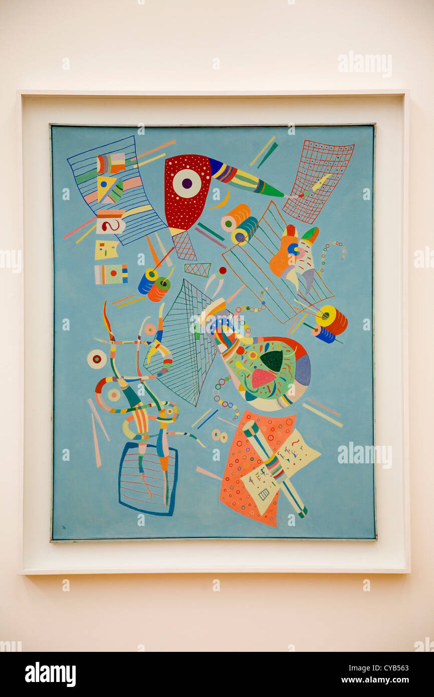 L'Europa, la Svizzera, Zurigo, Kunsthaus, museo d'arte, serenite, dipinto di Wassily Kandinsky, 1922 Immagini Stock