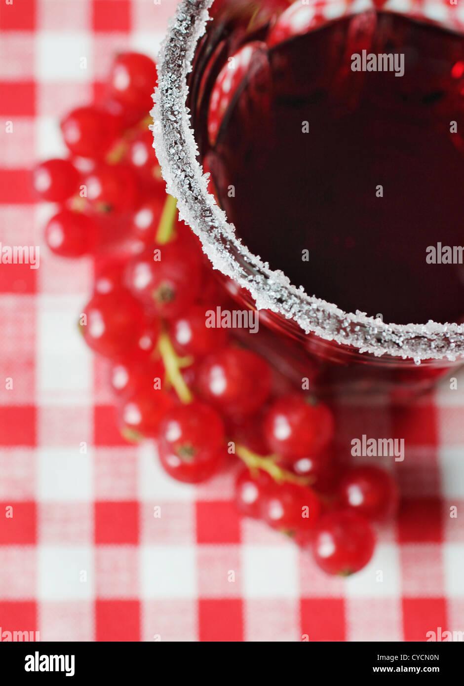 Succo di ribes,cerchio di zucchero Immagini Stock