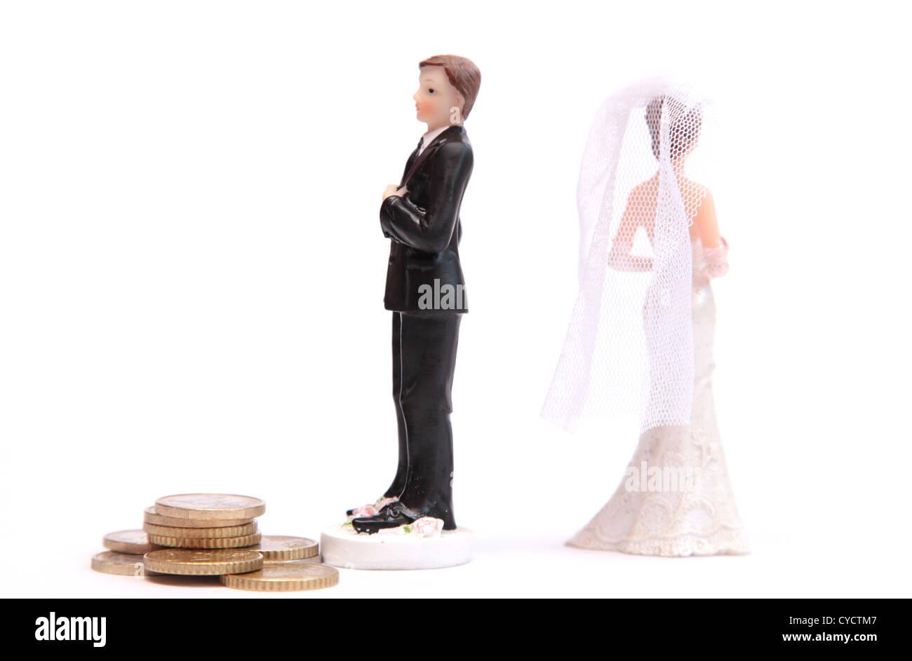 Una divorziata giovane Immagini Stock