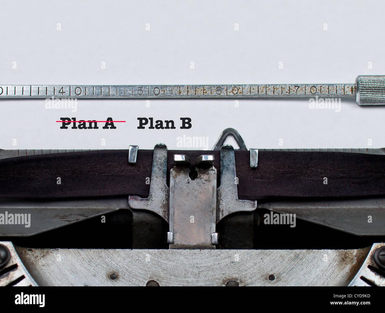 Un piano contro il piano B :: azienda o sport sport strategia sportivi concetto concettuale Immagini Stock