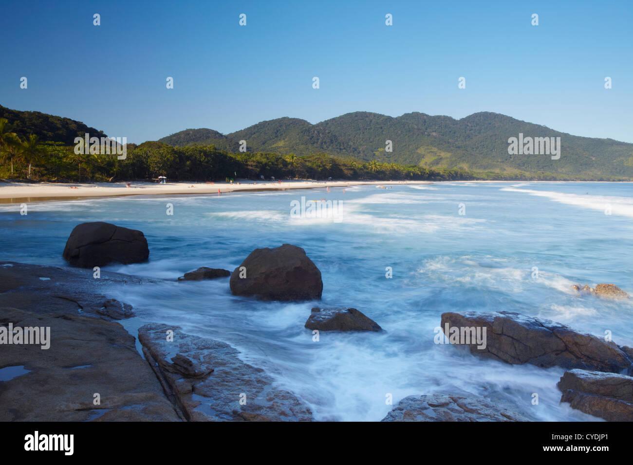 Lopes Mendes beach, Ilha Grande, Stato di Rio de Janeiro, Brasile Immagini Stock