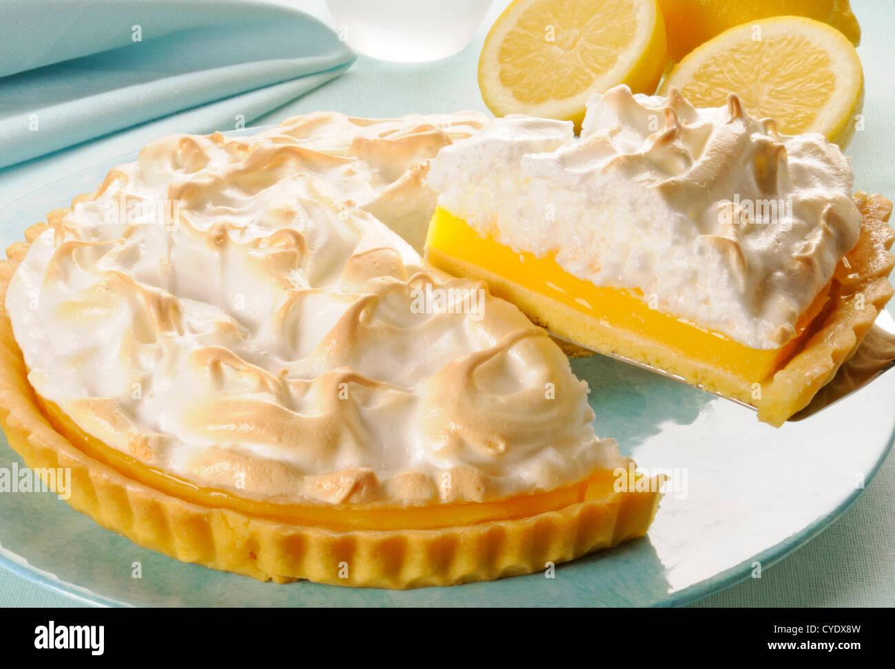 Lemon Meringue Pie Immagini Stock