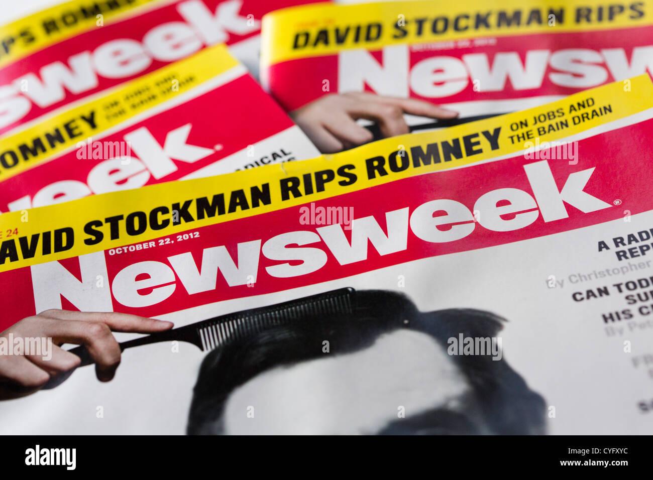 Copie stampate della rivista Newsweek. Immagini Stock