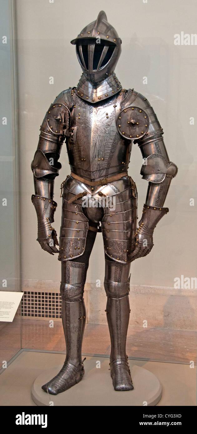 Armor dell'Imperatore Ferdinando I Kunz Konrad Lochner tedesco Nuremberg 1510-1567 Data 1549 tedesco Nuremberg Immagini Stock