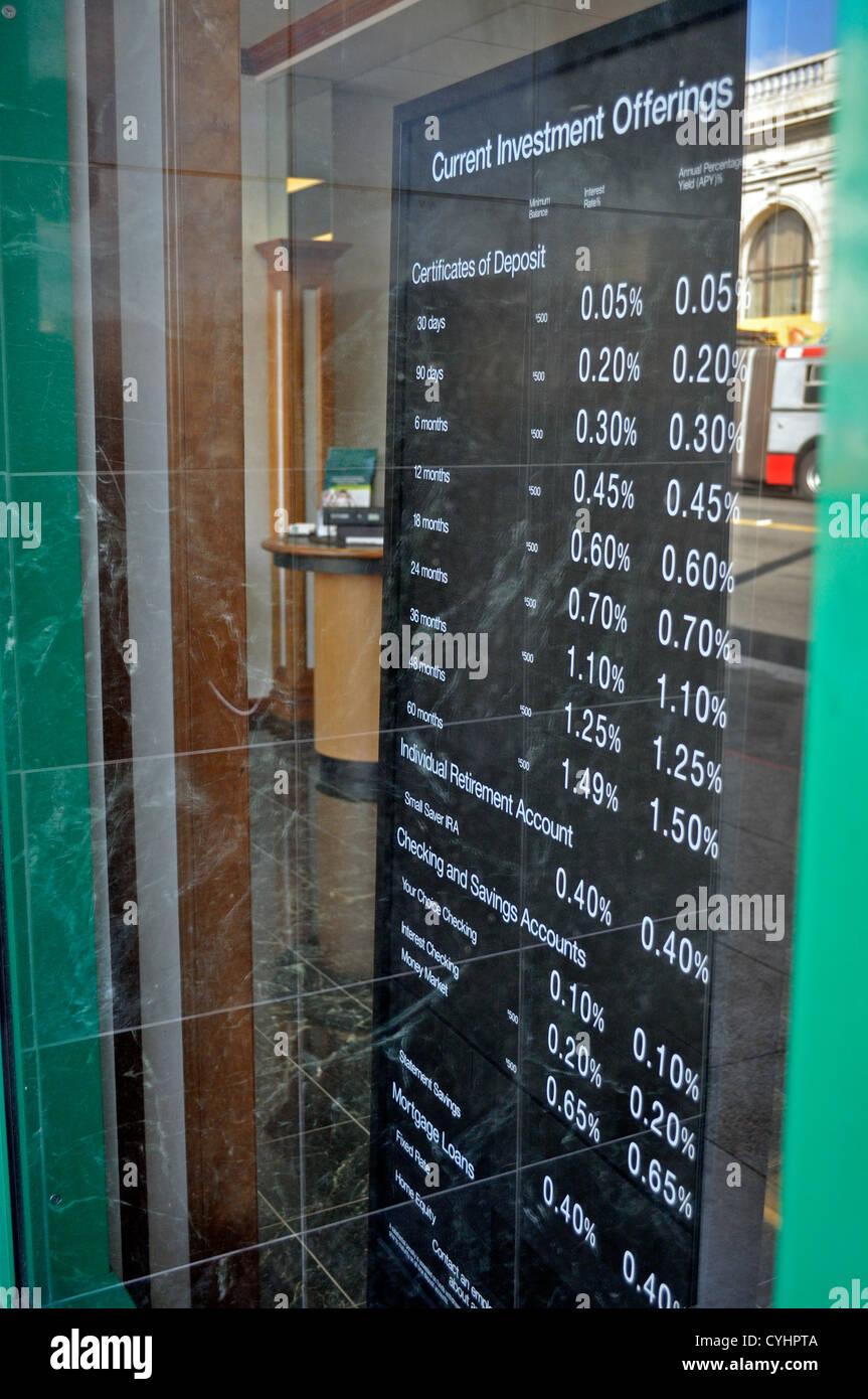 I tassi di interesse segno Immagini Stock