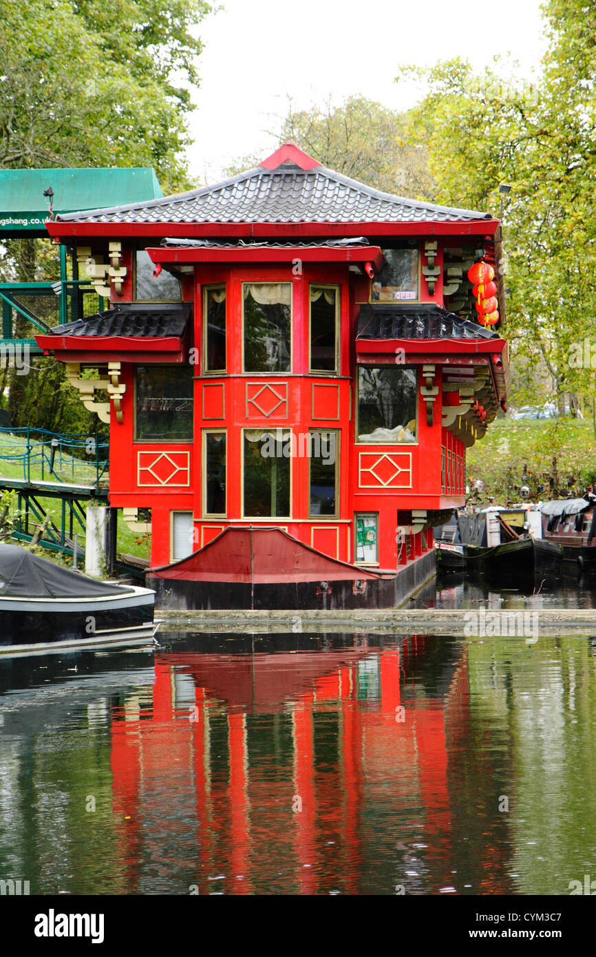 Il Feng Shang Princess, Floating Ristorante Cinese, Regents Park, London, Regno Unito Immagini Stock
