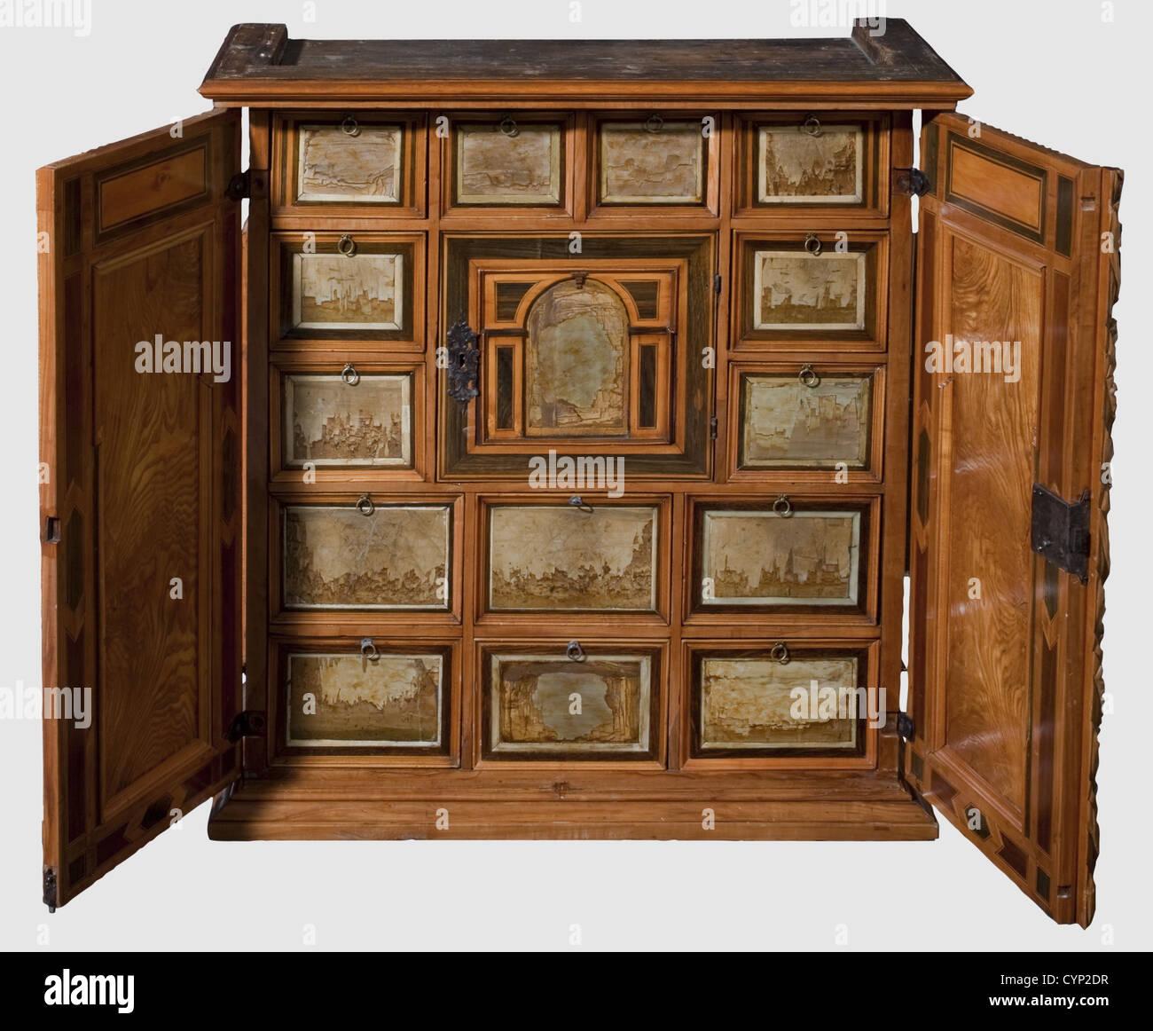 Mobili Con Cassetti Nascosti a sud di un armadio tedesco con la rovina di marmo, prima