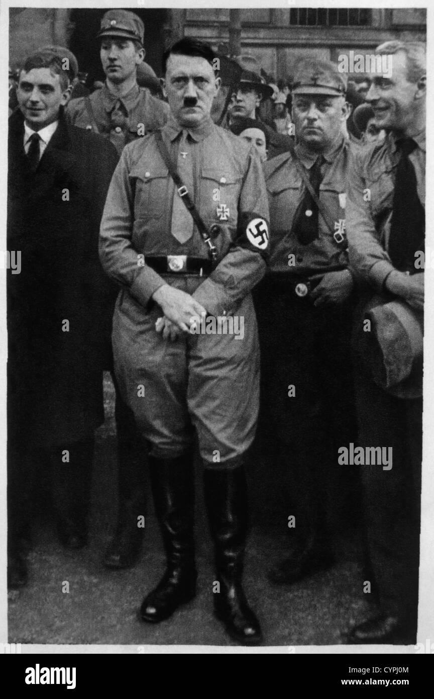Adolf Hitler di Braunschweig, Germania, 1931 Immagini Stock