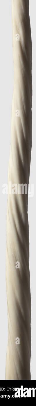 Un narwhal brosmio, Groenlandia, xx secolo snello brosmio con splendidamente cresciuta, ritorto struttura elicoidale. Immagini Stock