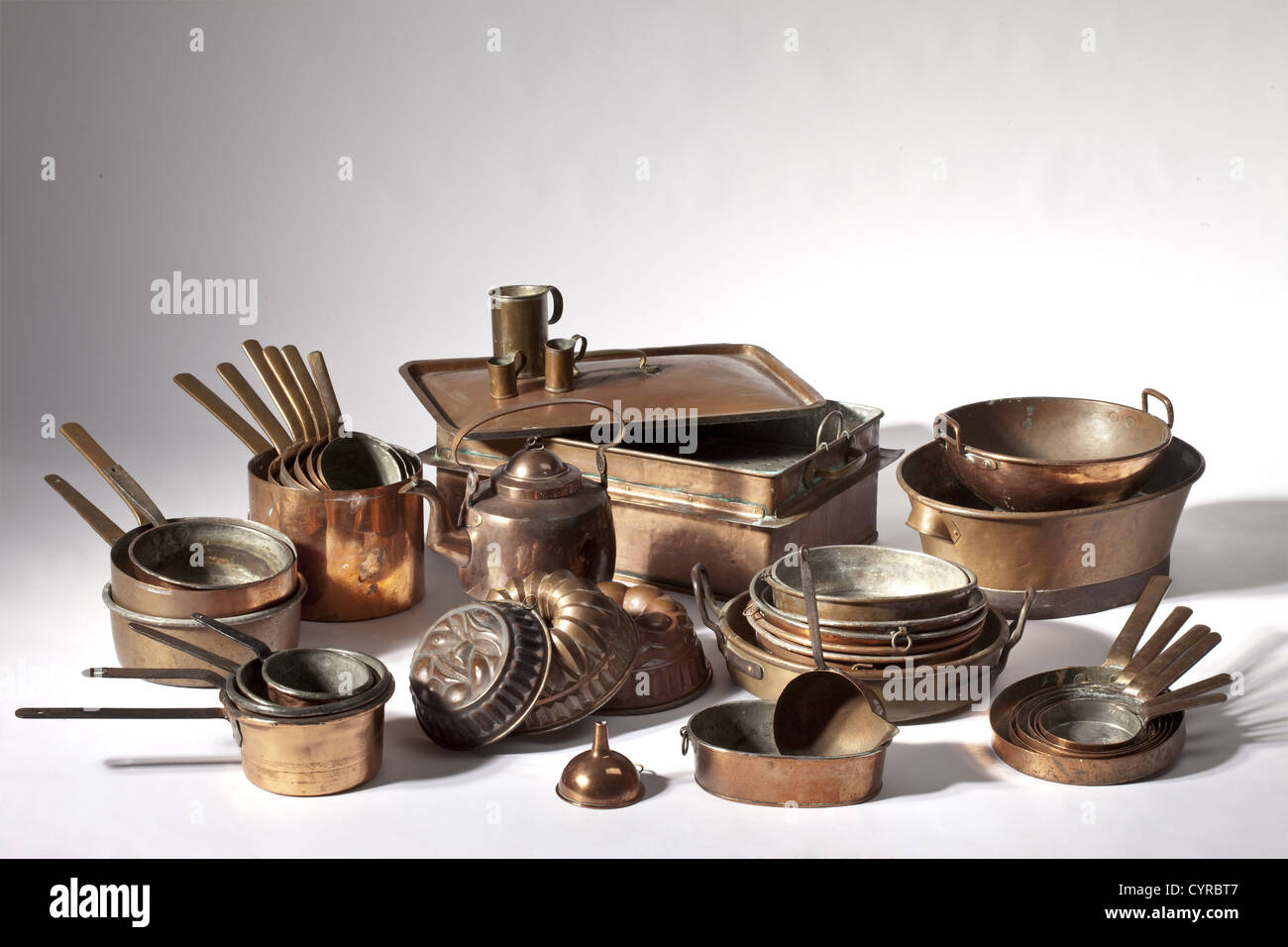 Inventario di un castello cucina, Sud tedesco, xix secolo 40 ...