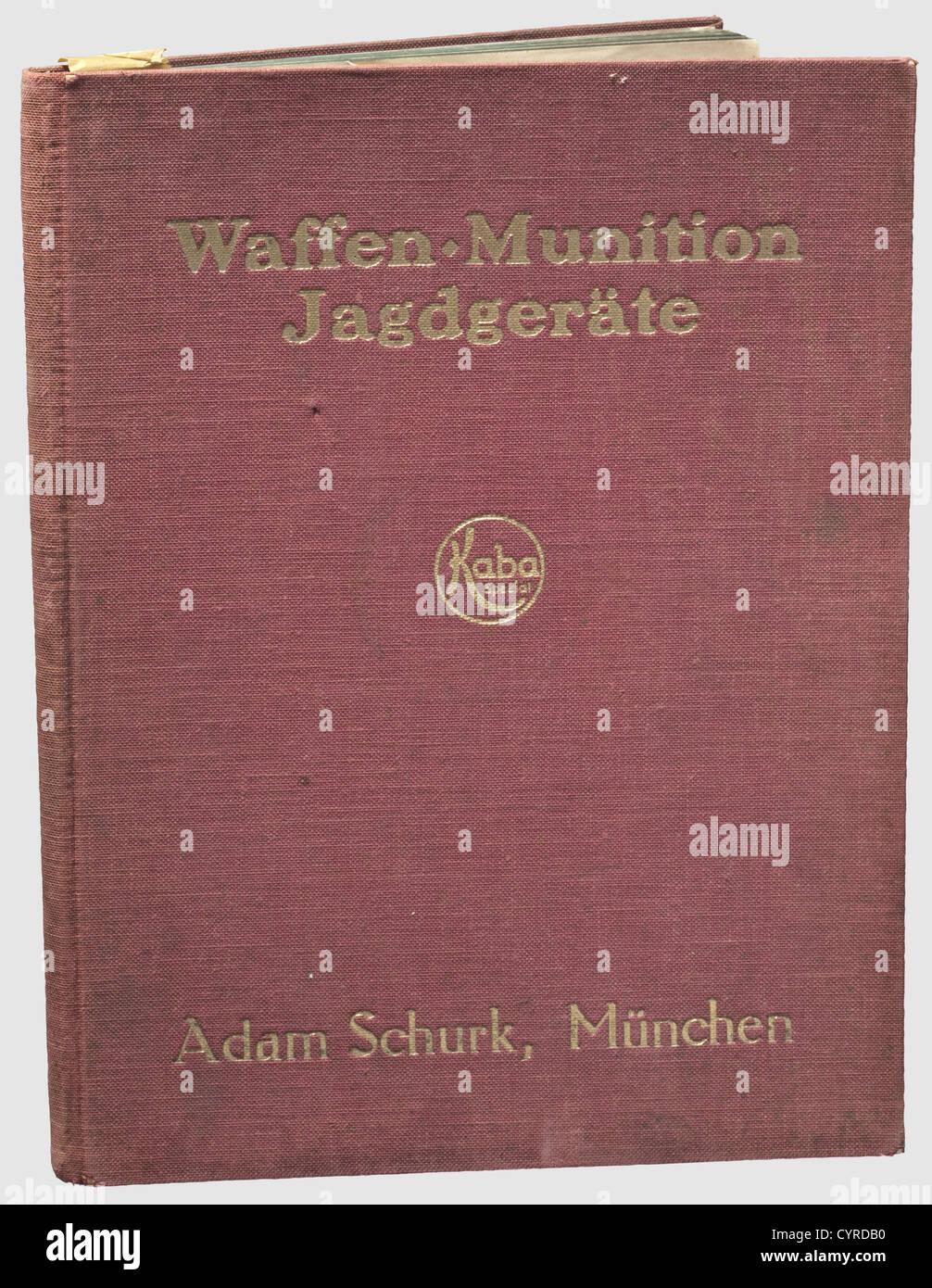 Adam Schurk (Schork), Katalog über Waffen, munizione, Jagdgeräte (Catalogo delle armi, munizioni, Caccia Immagini Stock