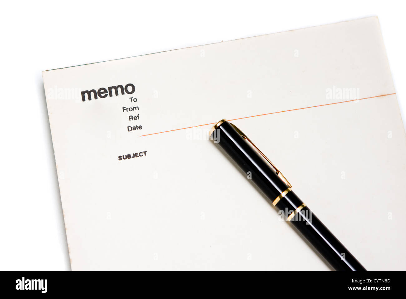 Blank memo pad notebook per inserire testo, spazio di copia Immagini Stock