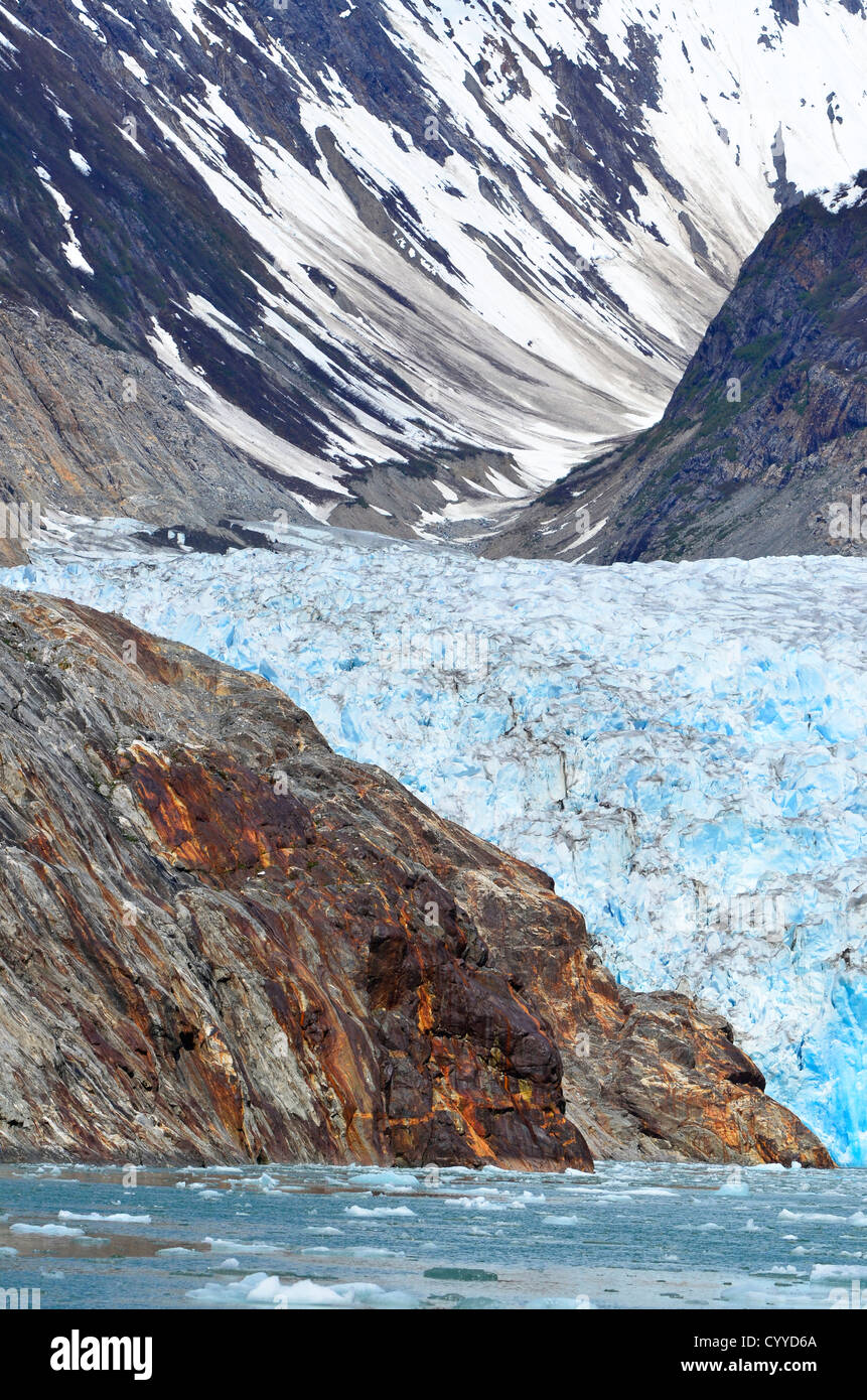 Nord Sawyer Glacier, Tracy Arm, Alaska. Foto Stock