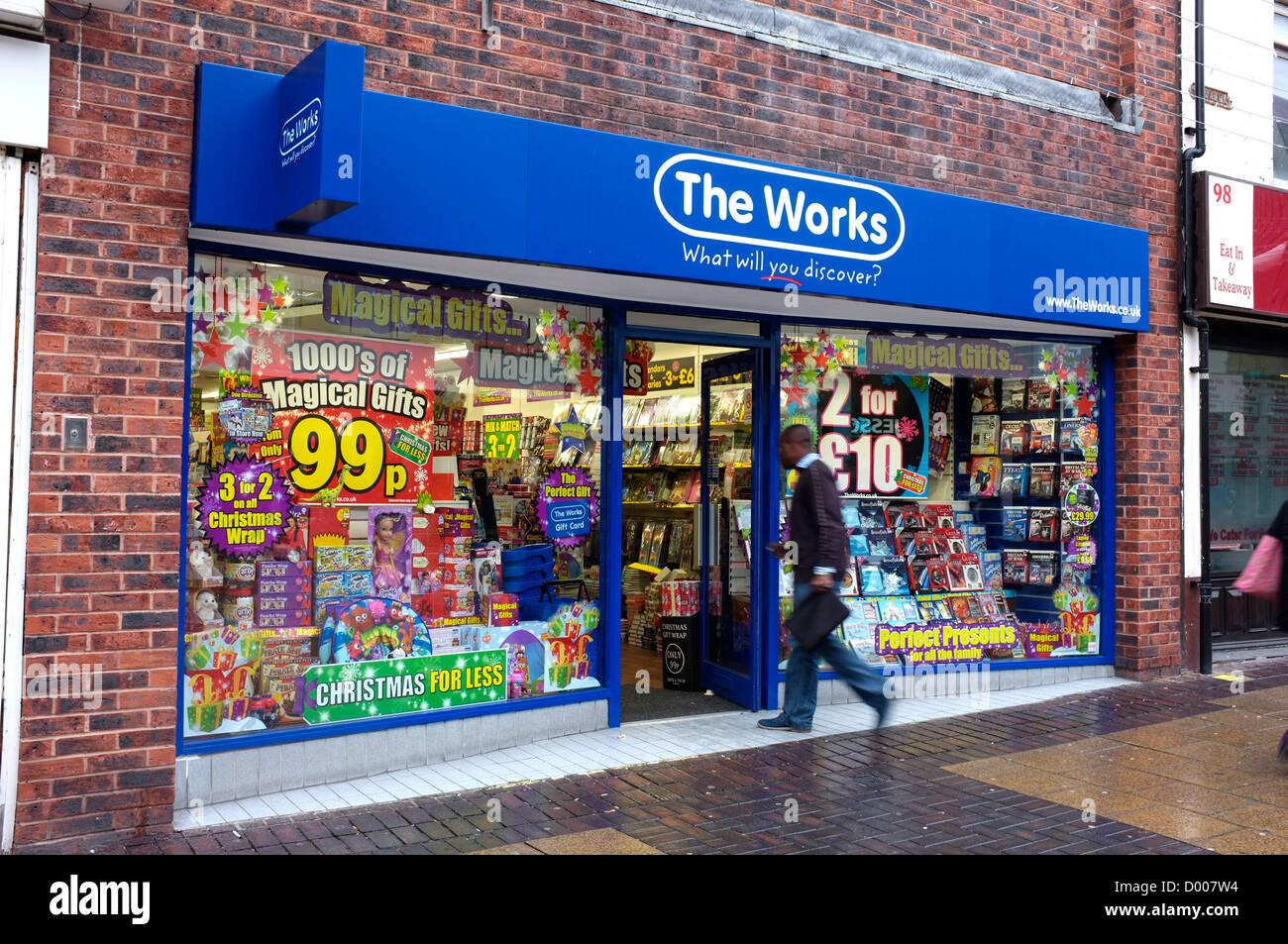 Le opere shop Bexleyheath Kent REGNO UNITO 2012 Immagini Stock