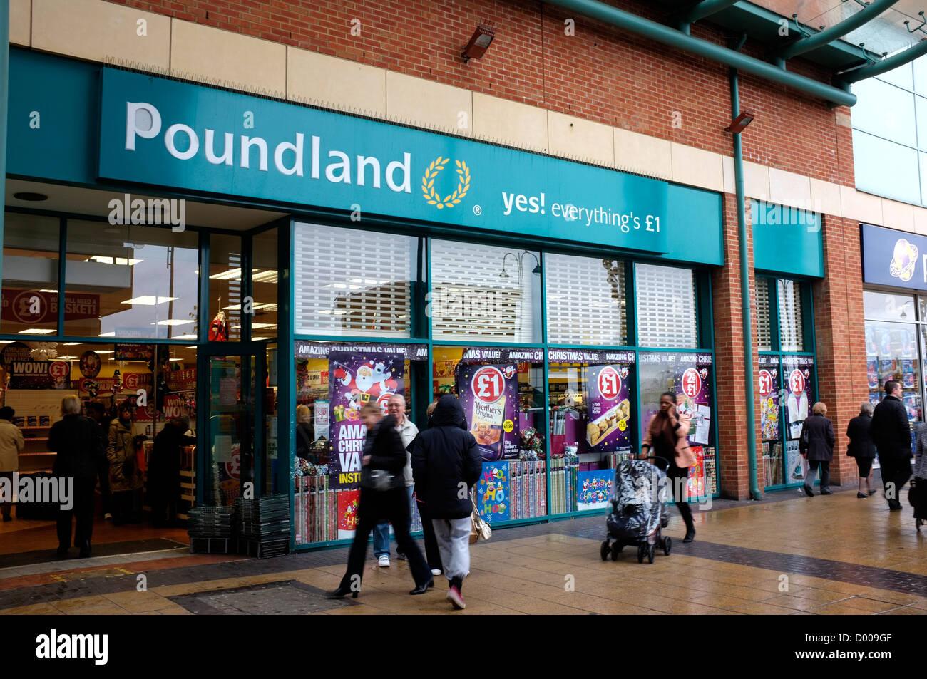 Negozio poundland Bexleyheath Kent REGNO UNITO 2012 Immagini Stock