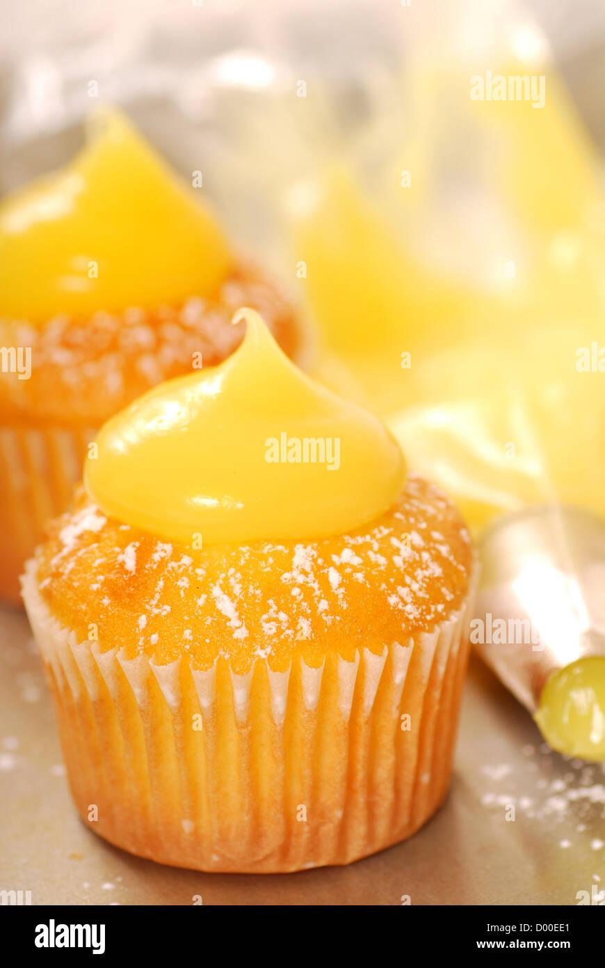 La Decorazione Di Vaniglia Tortine Con Cagliata Di Limone E Zucchero