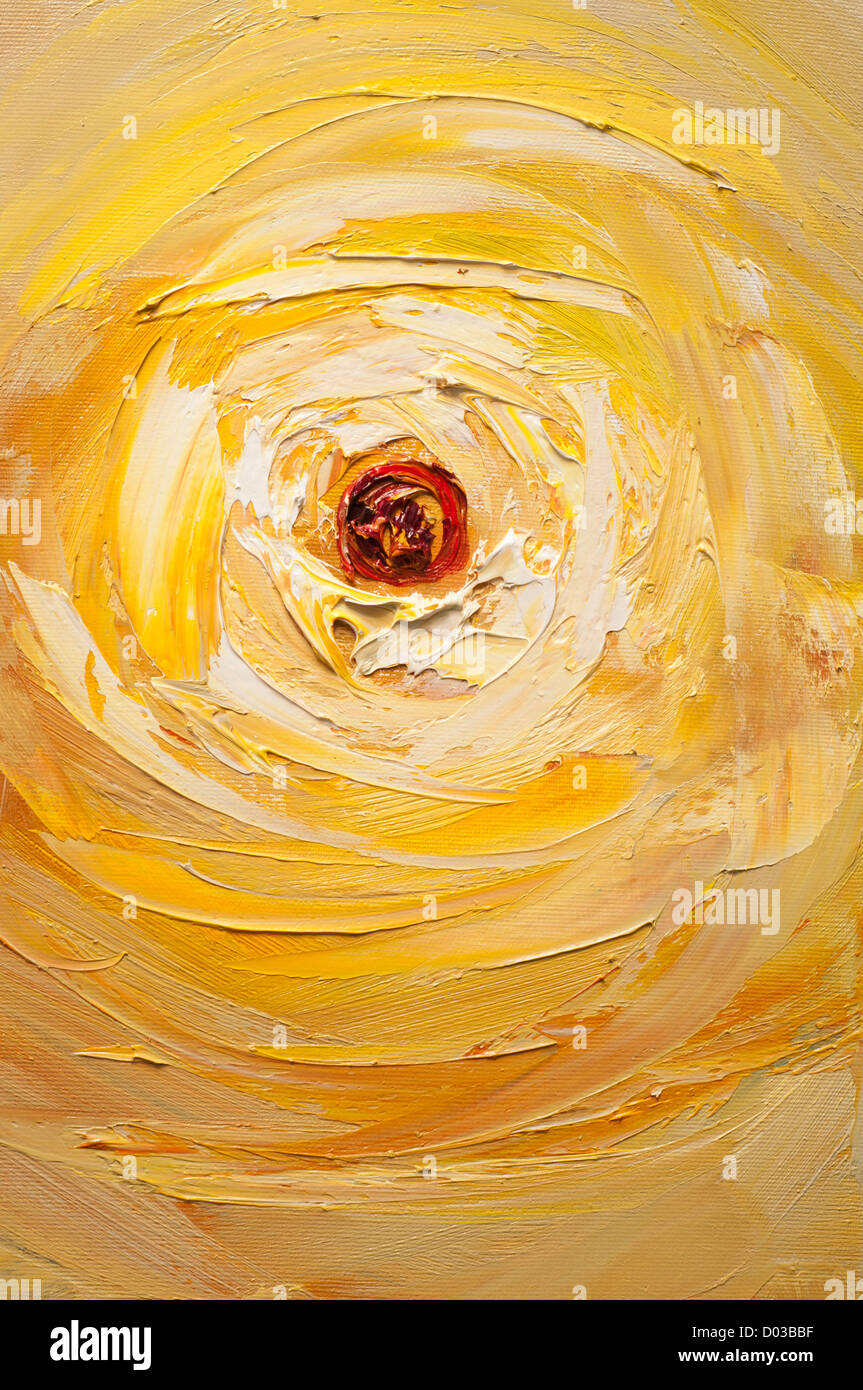 pittura ad olio sole Immagini Stock