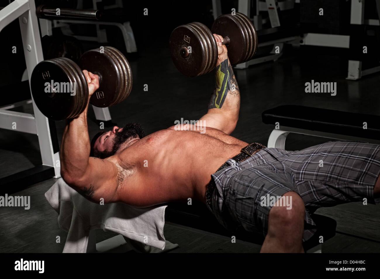 Bodybuilder Foto Stock