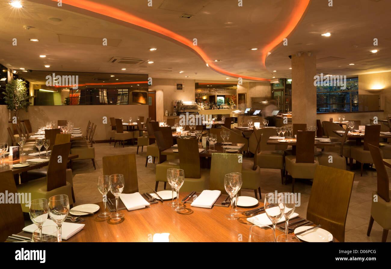 Cielo ristorante a Brindleyplace, Birmingham Immagini Stock