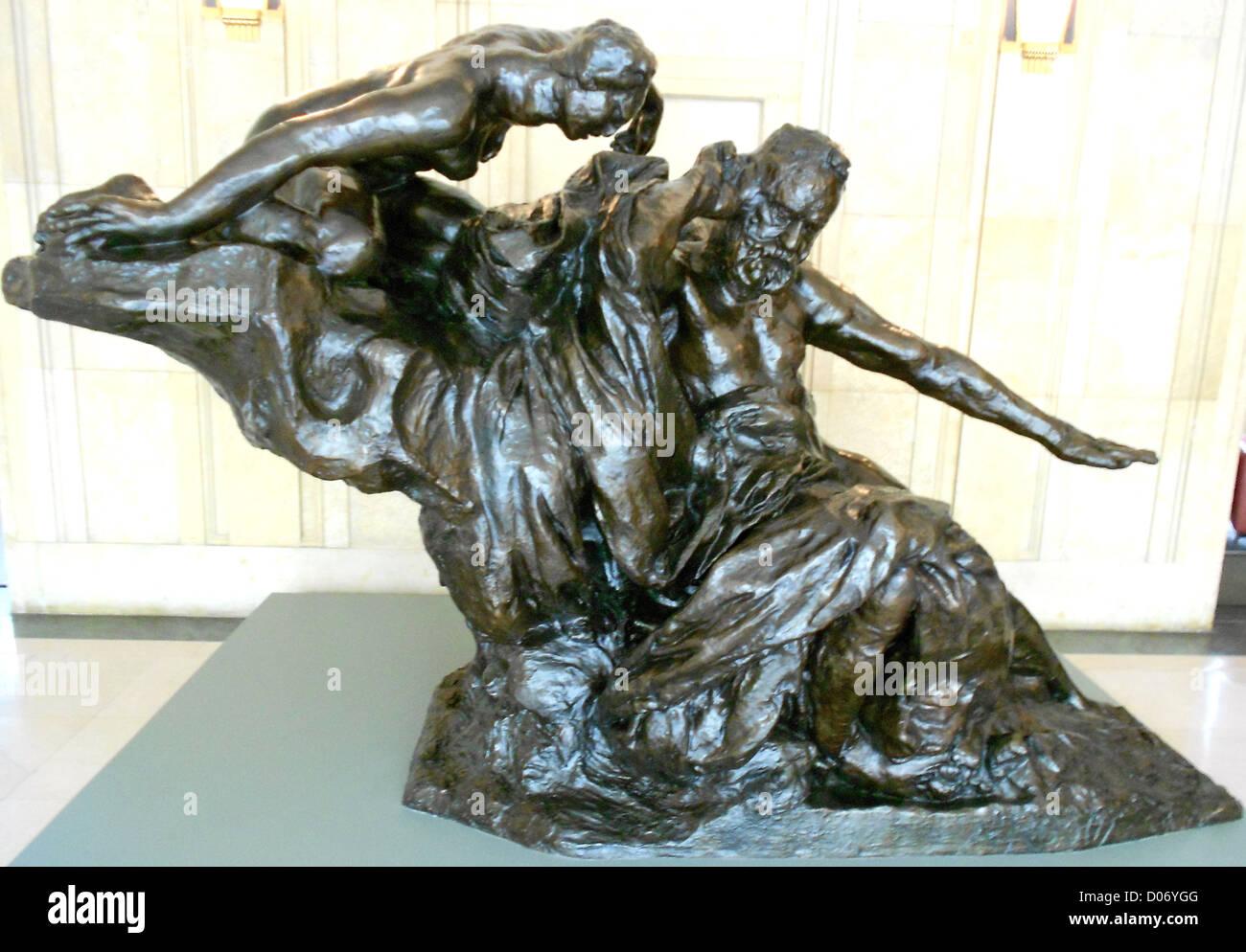 Rodin il monumento a Victor Hugo, realizzata in gesso in 1897, gettato nel 1964. Immagini Stock