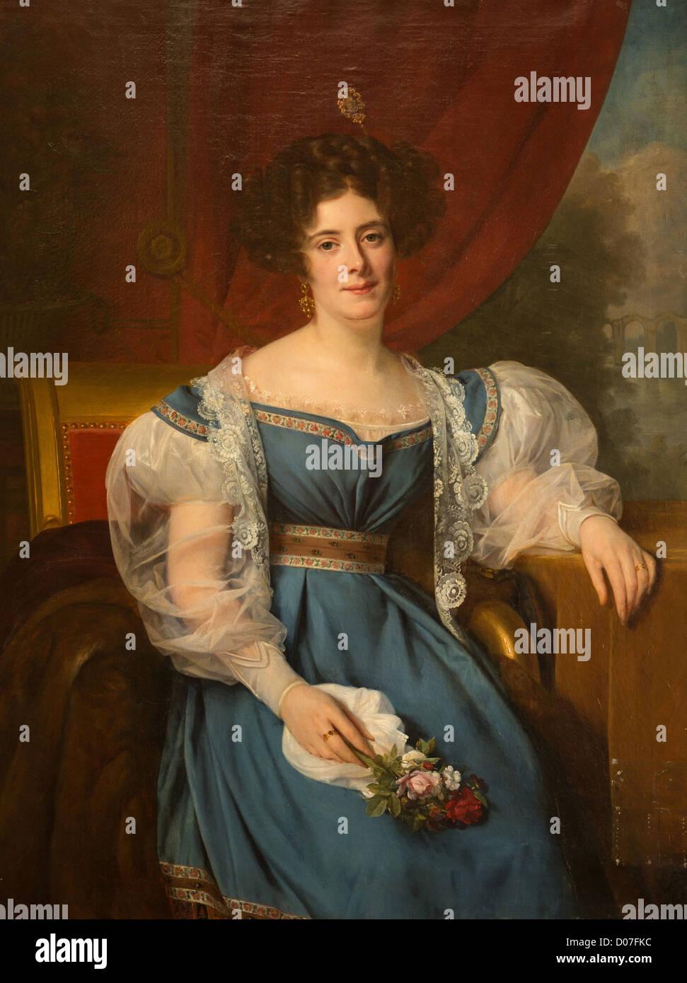 ALICIA DE ROCHECHOUART DE MORTEMART (1800-1887) DUCHESSA NOAILLES ATTRAVERSO IL SUO MATRIMONIO PAOLO DE NOAILLES Immagini Stock