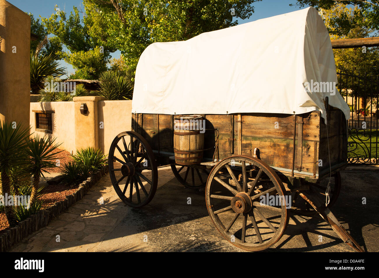 Il carro coperto a Gage Hotel,Marathon,TX Immagini Stock