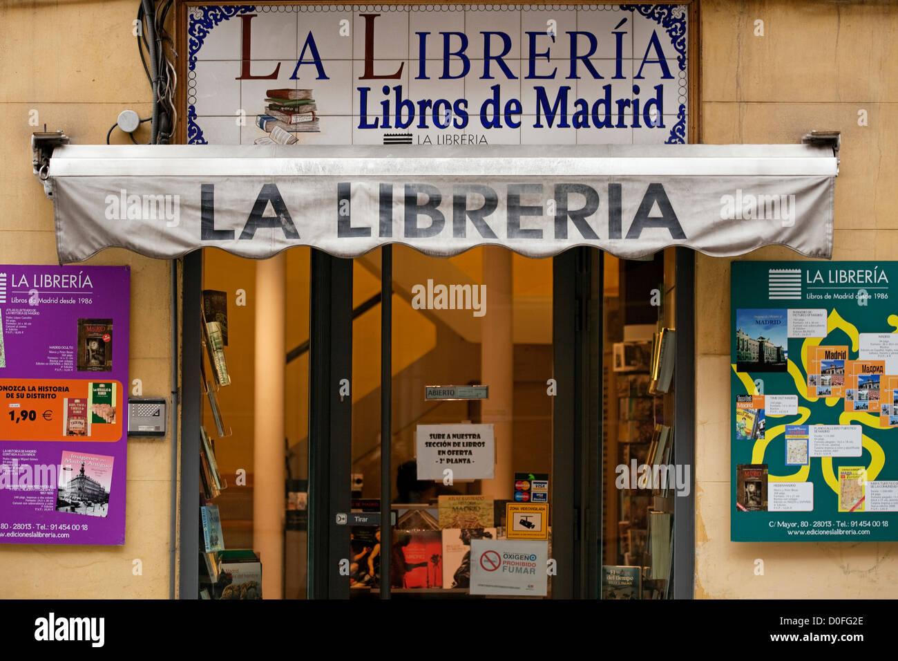 Libreria in Madrid Spagna Libreria en Madrid España Immagini Stock