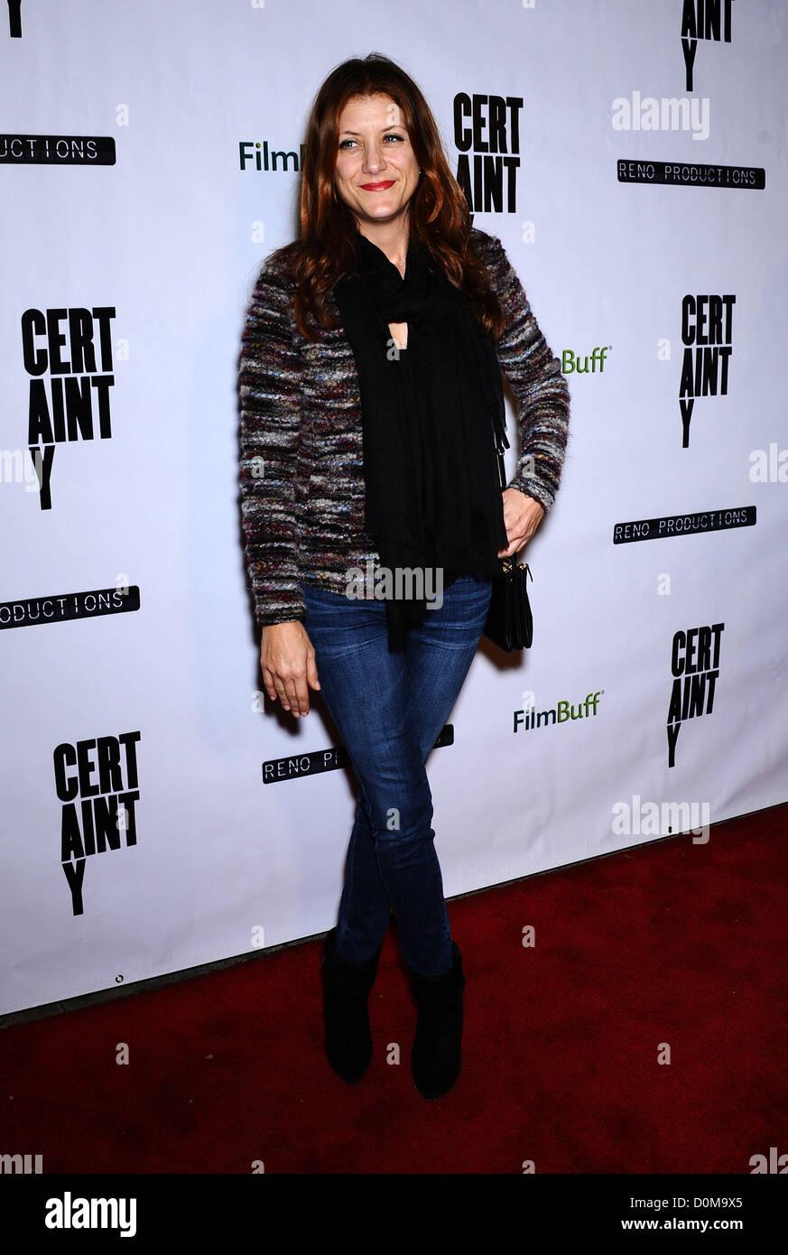 """Nov. 26, 2012 - Beverly Hills, in California, Stati Uniti - Kate Walsh arriva per la premiere del film """"certezza"""" Immagini Stock"""