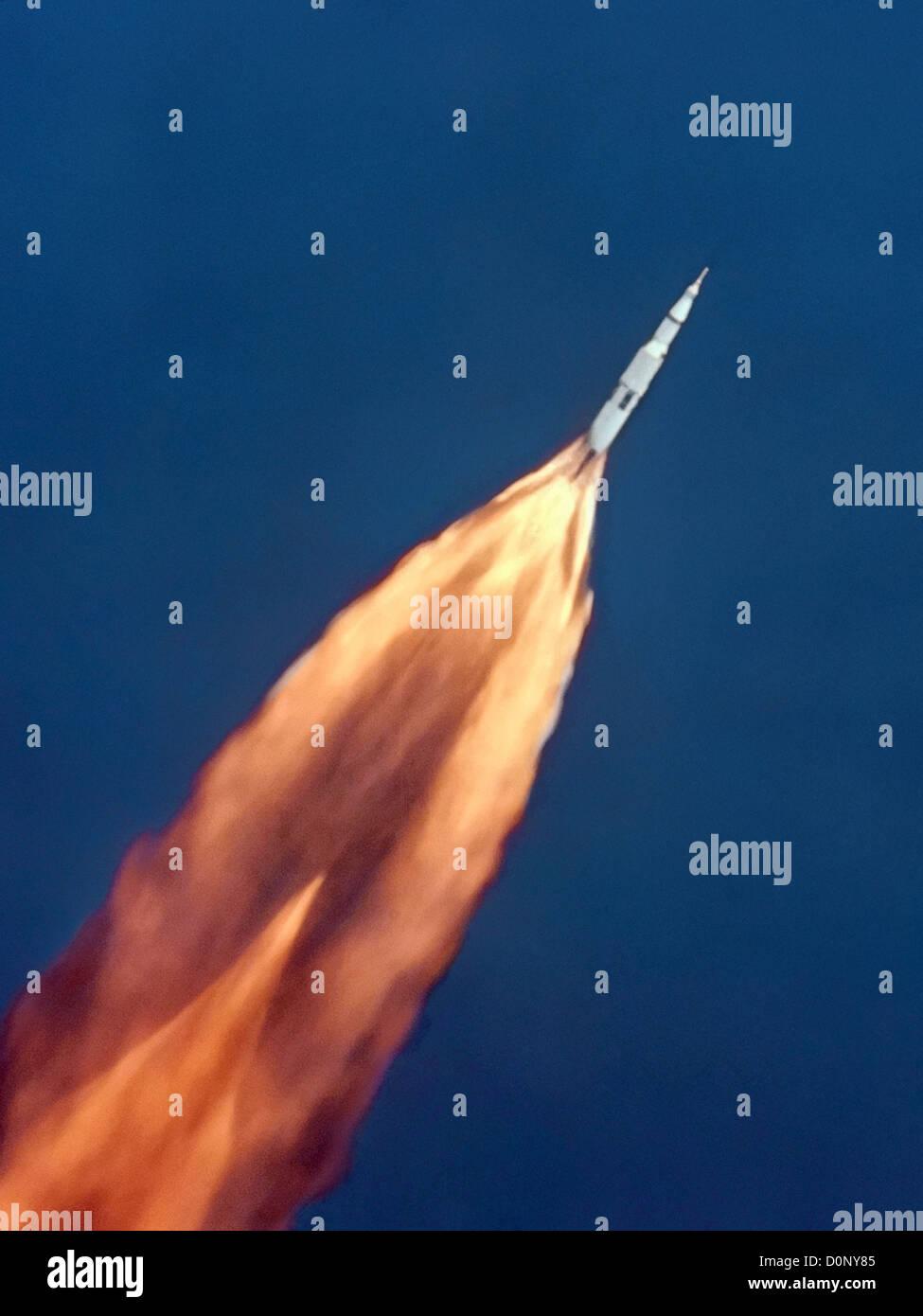 Lancio di Apollo 11 Foto Stock