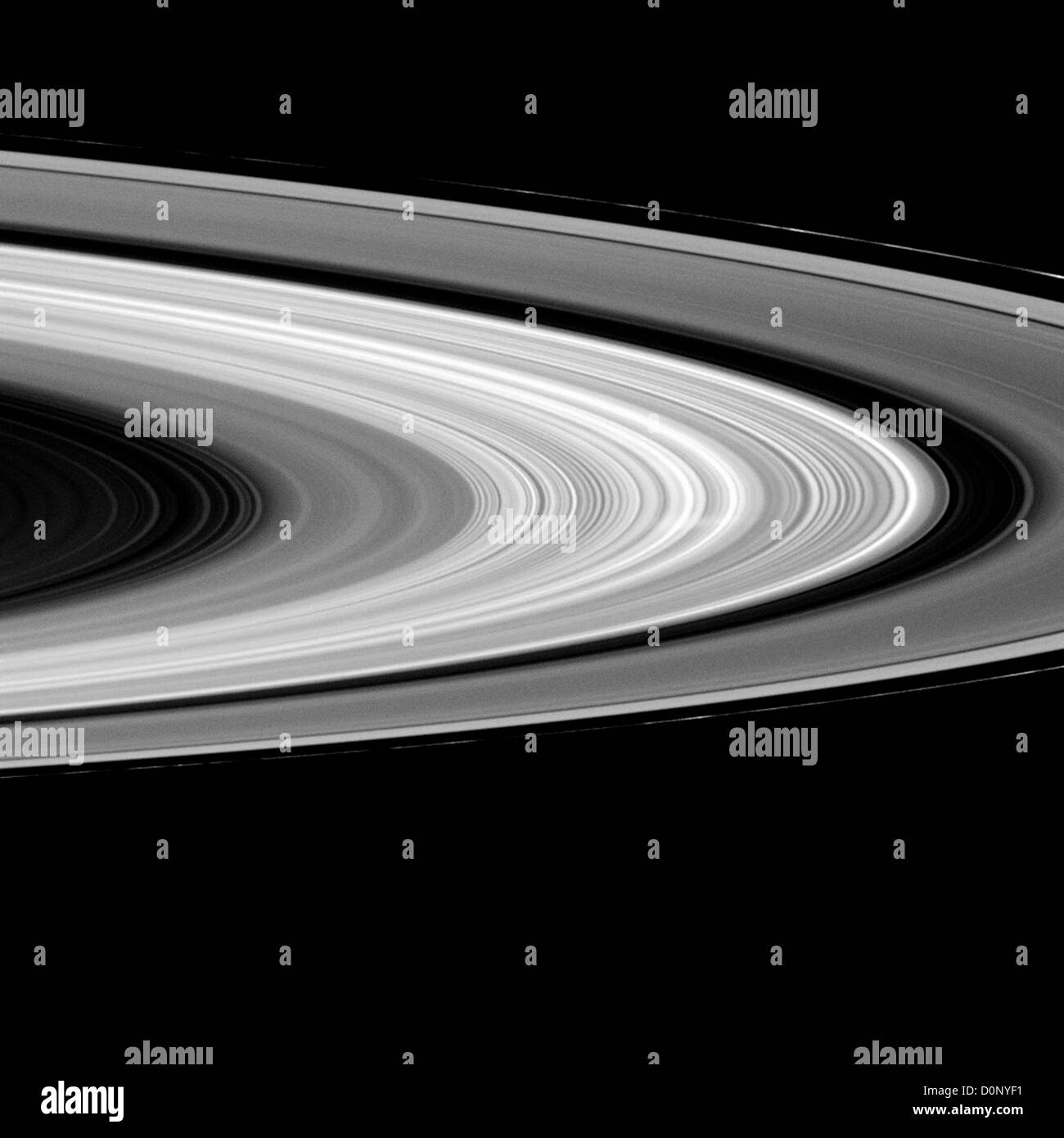 Anelli di Saturno, con raggio Immagini Stock