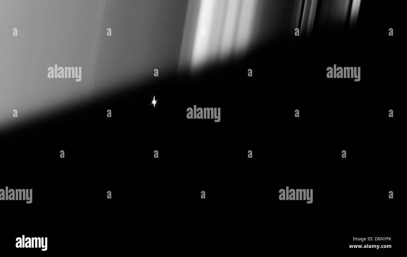 Aldebaran e gli anelli di Saturno Immagini Stock