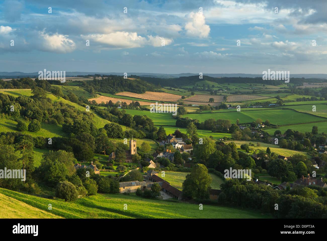 Corton Denham, Somerset, Inghilterra, Regno Unito Immagini Stock