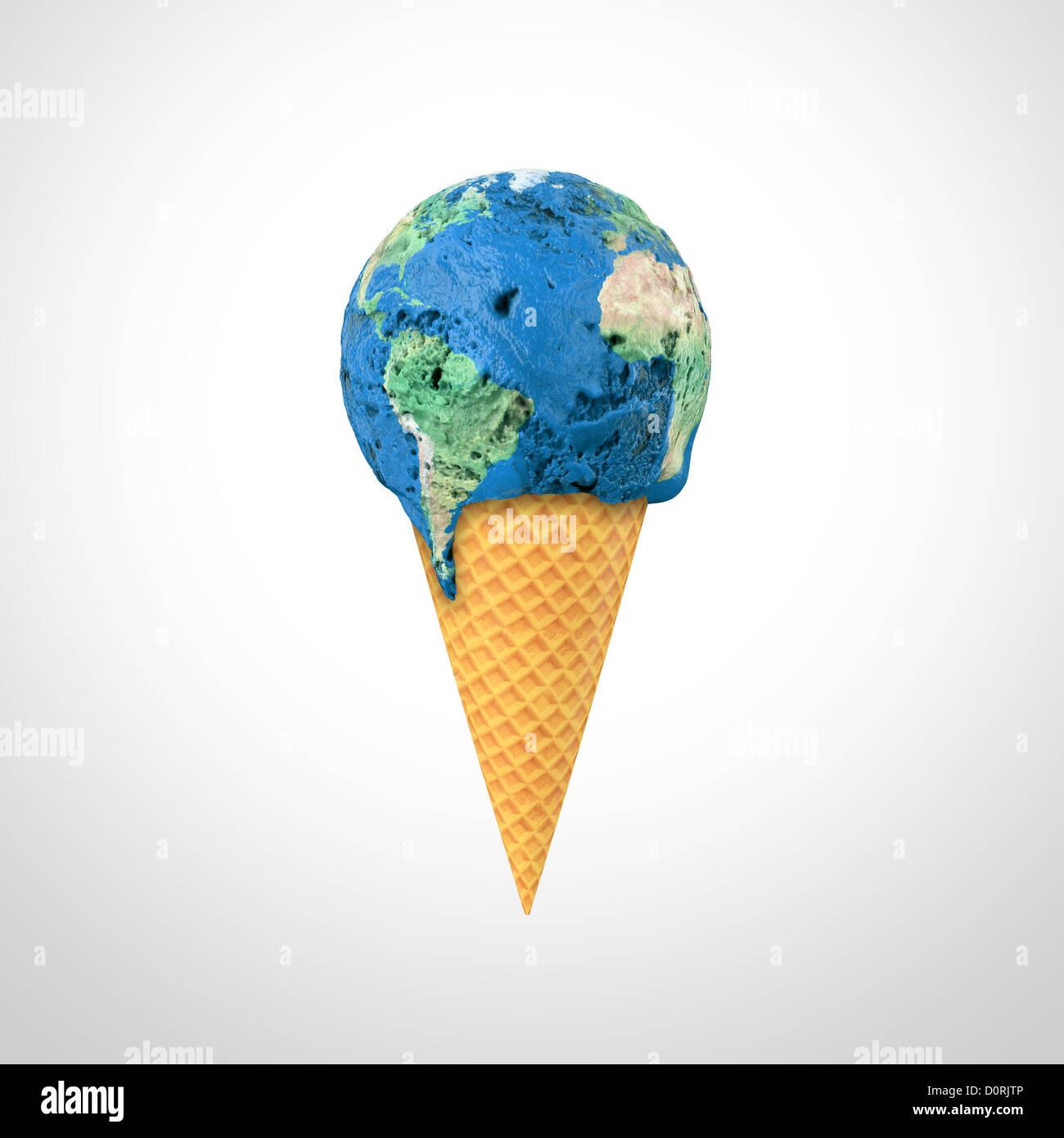 Mondo gelato Foto Stock