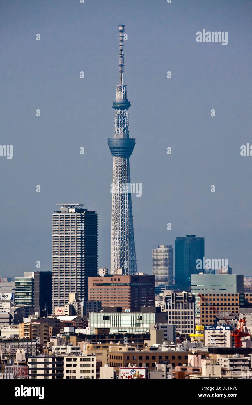 Giappone, Asia, vacanze, viaggi, Tokyo, Città, Sky Tree, Tower skyline, edifici Immagini Stock