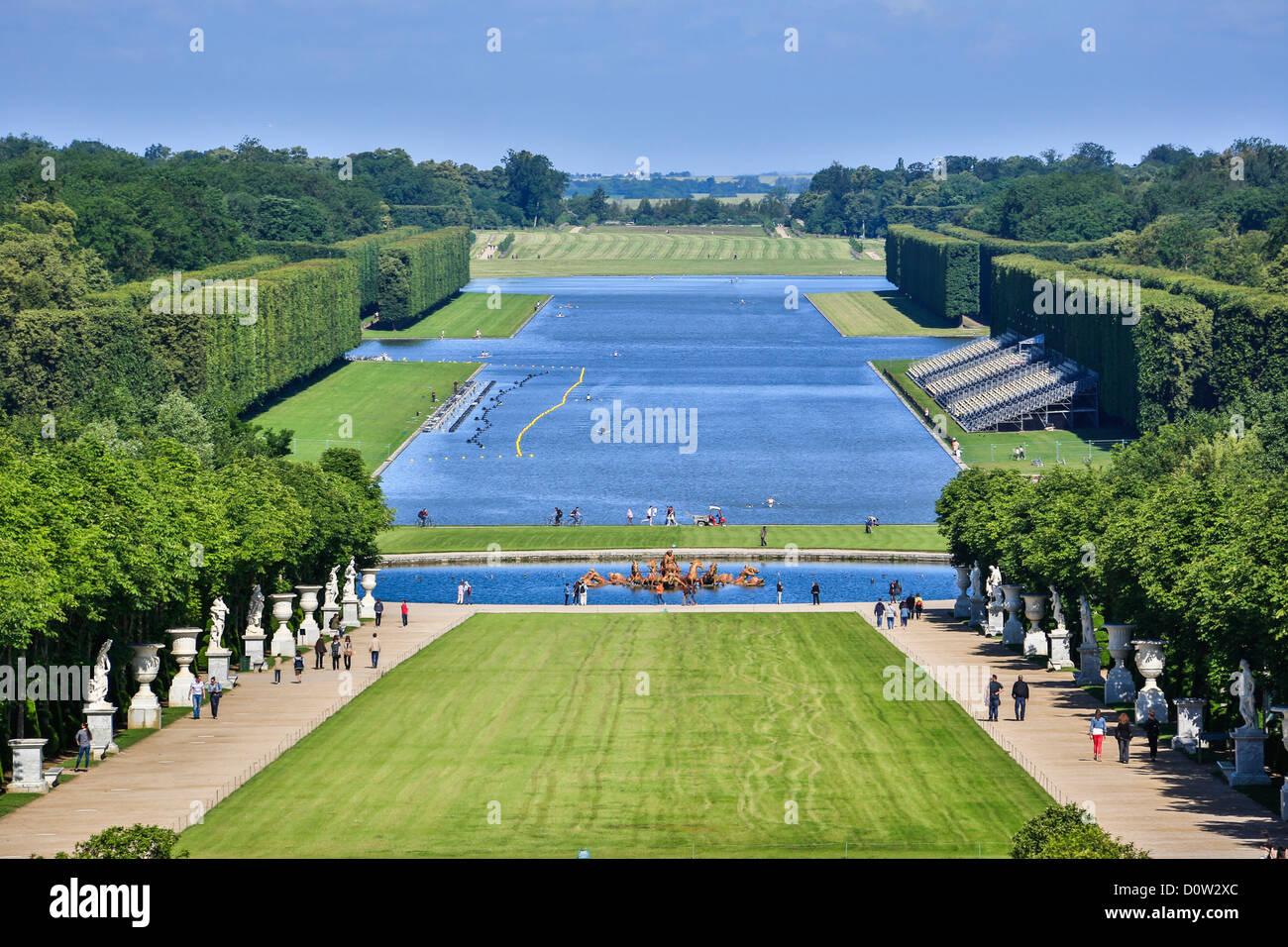 Francia, Europa, viaggi, Versailles, patrimonio mondiale, giardini, dettaglio, architettura, parco, storia, turismo, Immagini Stock