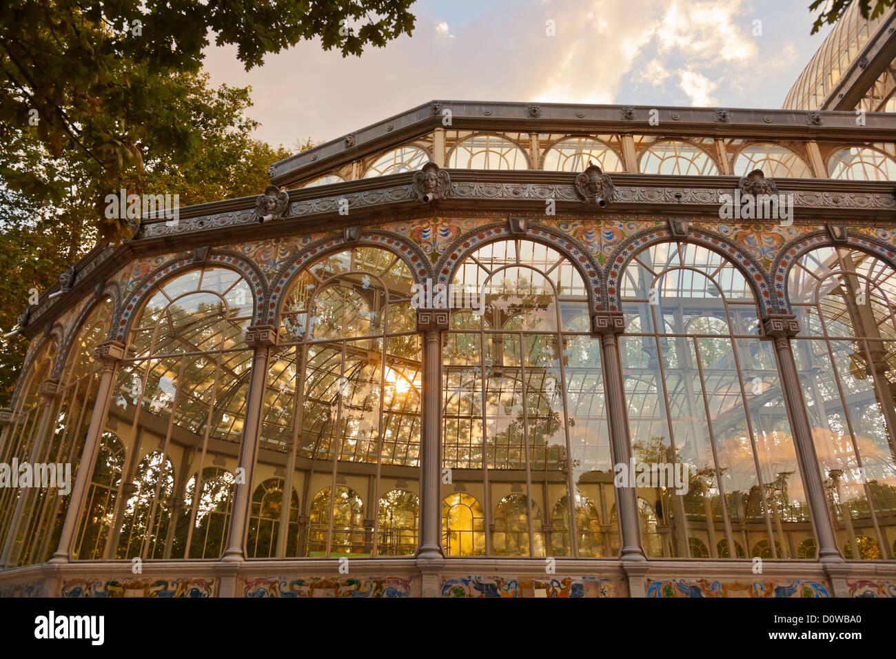 Il palazzo di cristallo a Madrid Spagna Immagini Stock