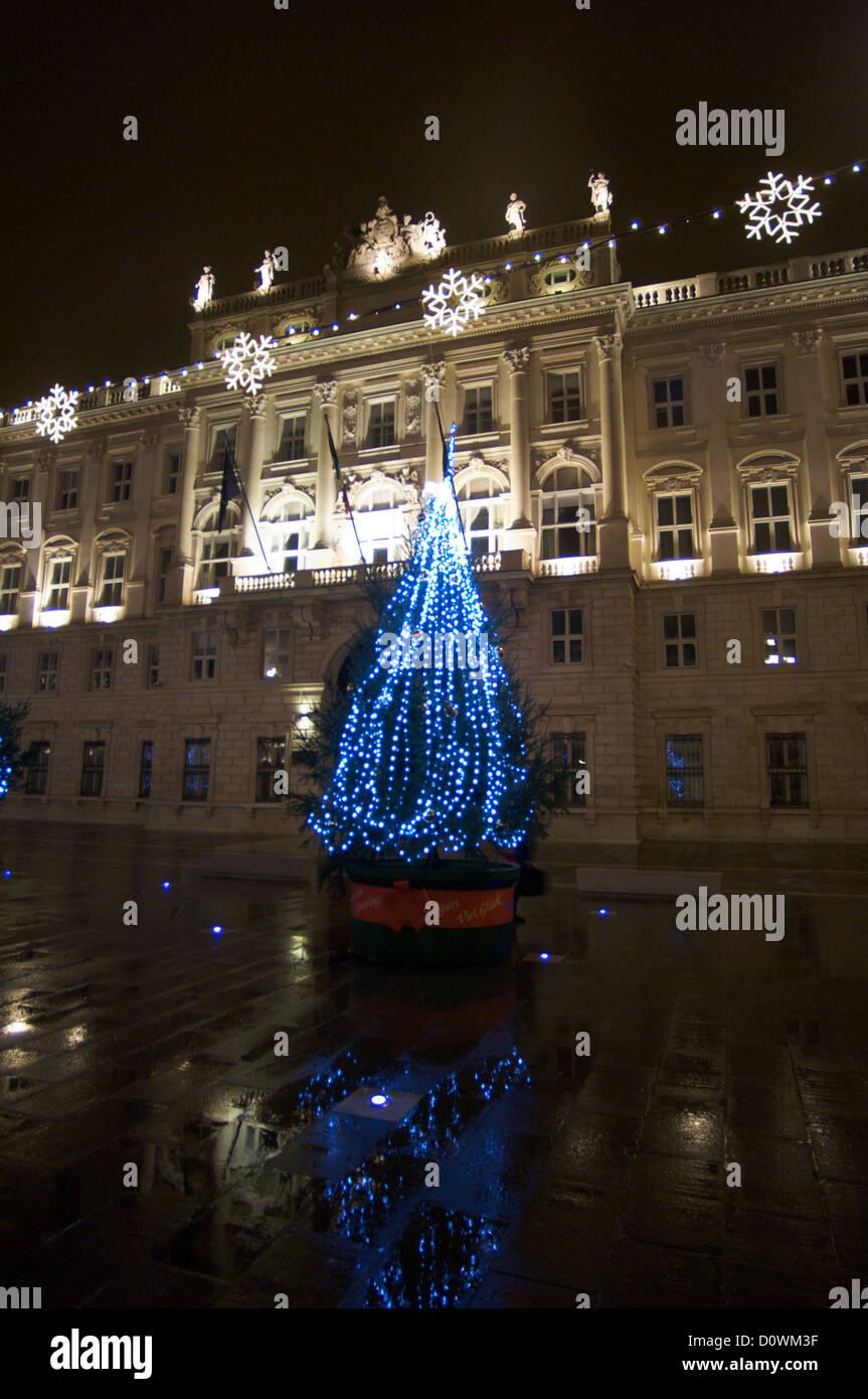 Trieste Natale Immagini.Natale A Trieste Italia La Famosa Piazza Della Citta Foto