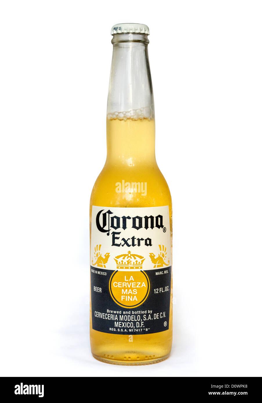 Bottiglia di Corona birra messicana Immagini Stock