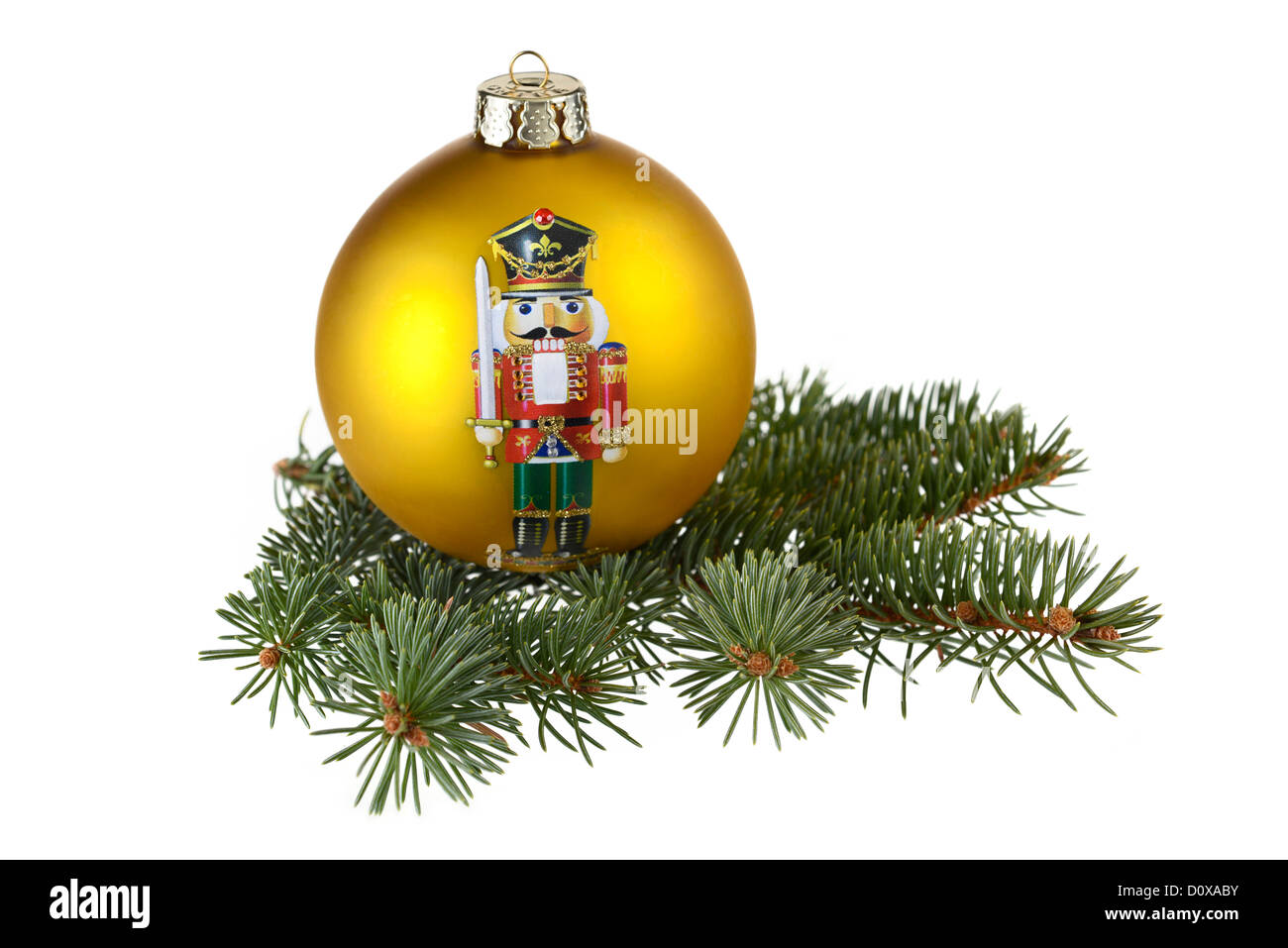 Decorazione per albero di Natale, a sfera Immagini Stock