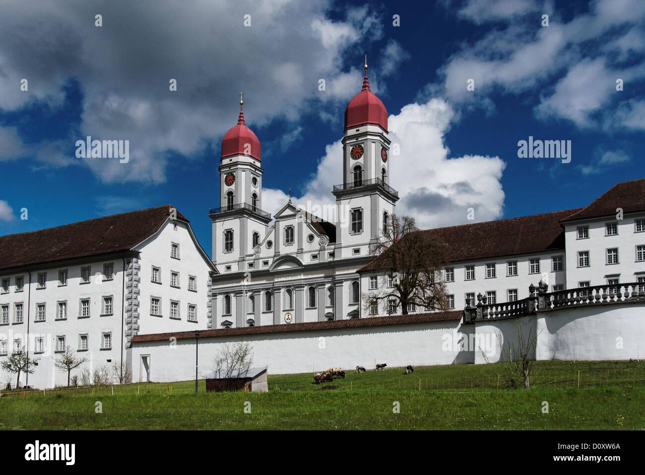 Il cristianesimo, Canton Lucerna, Cattolica, chiesa, chiostro, religione, Svizzera, Europa, Sant'Urbano, vita Immagini Stock