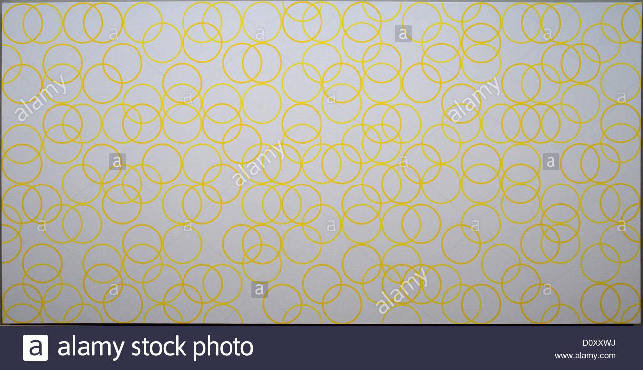Due colori gialli composizione con cerchi 2011 Bridget Riley 1931 Inglese Britannico Regno Unito Immagini Stock