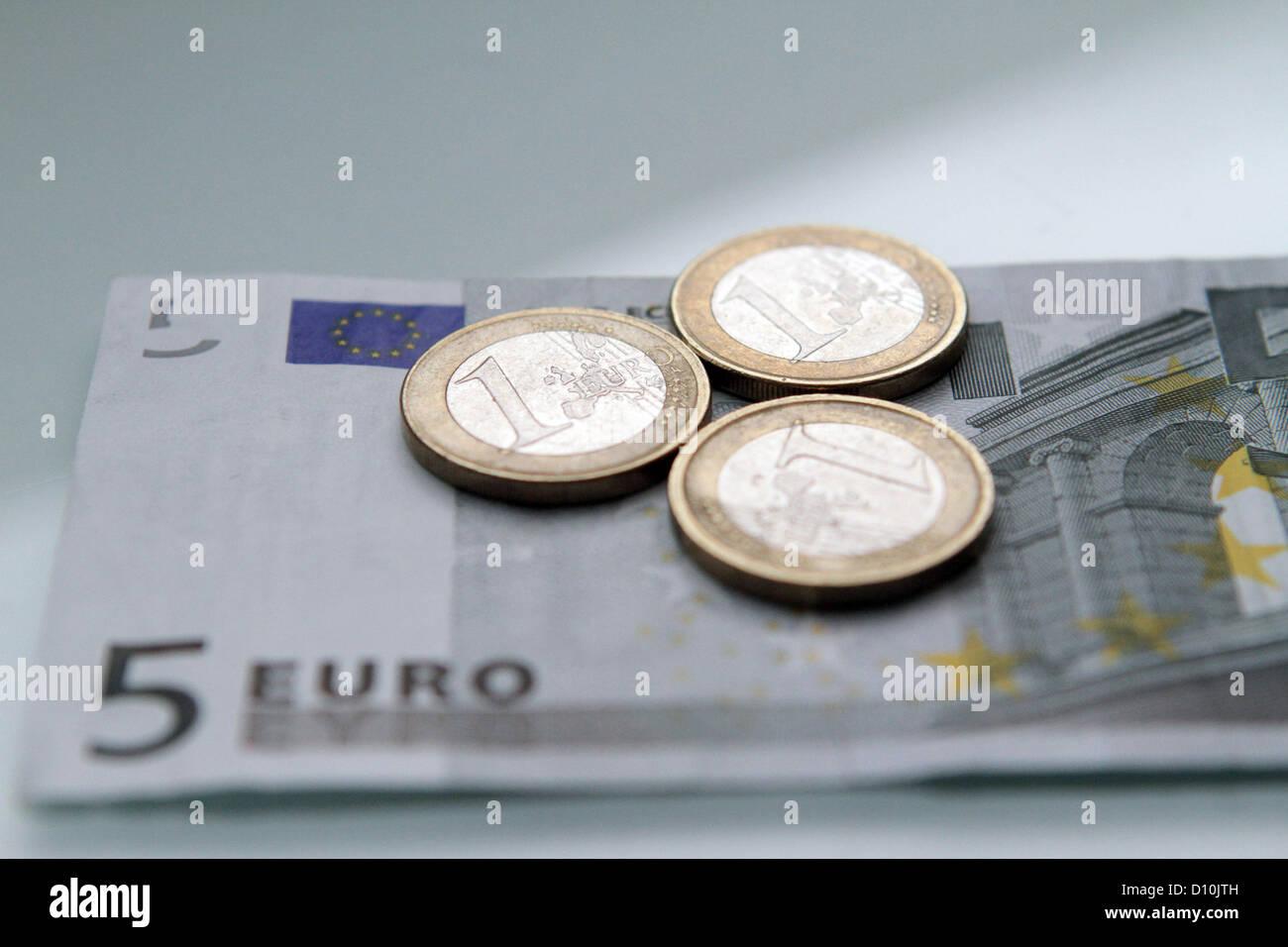 Stoccarda, Germania, simbolo foto salario minimo Immagini Stock