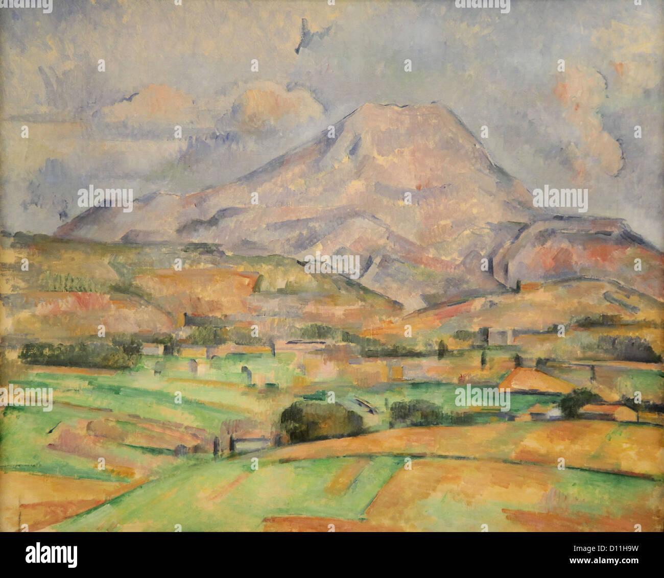 Paul Cézanne,Cezanne.La Montagne Sainte-Victoire 1888 Immagini Stock