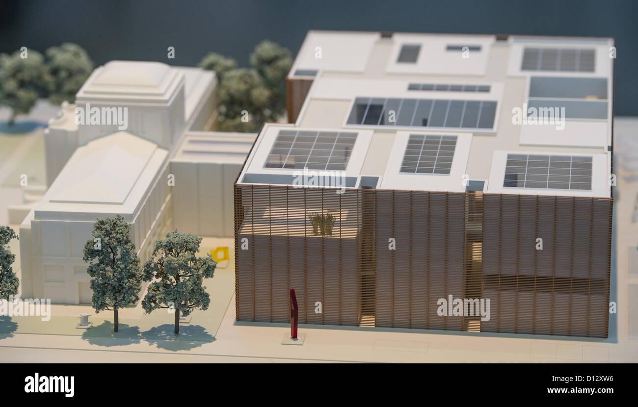 Il modello del vincitore nel concorso di architettura per la nuova Kunsthalle Mannheim da Amburgo-basato architects Immagini Stock