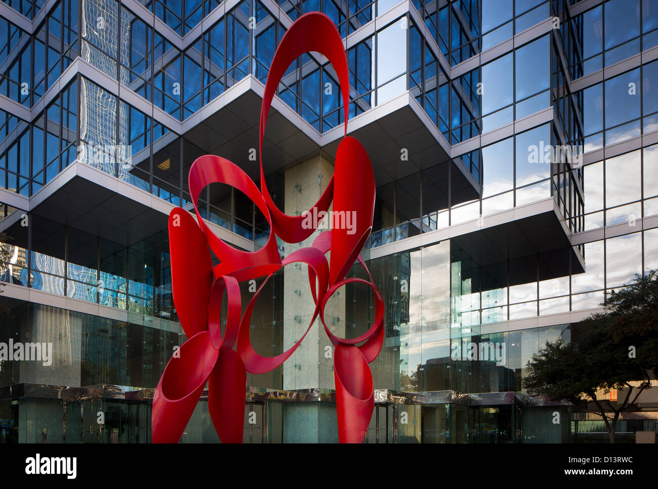 Grattacielo nel centro di Dallas, Texas Immagini Stock