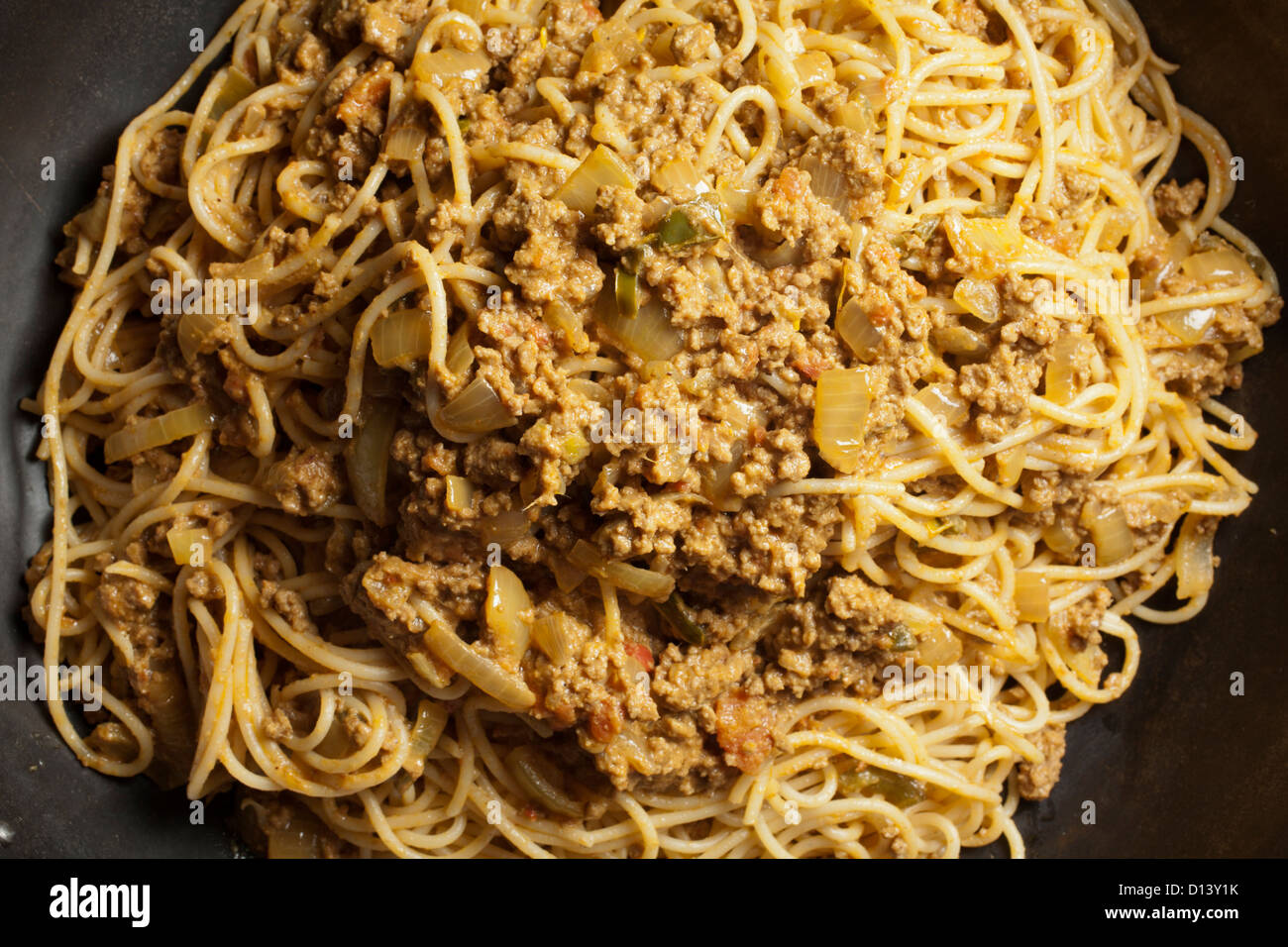Keema Khosa, pakistane spaghetti con sugo di carne Immagini Stock