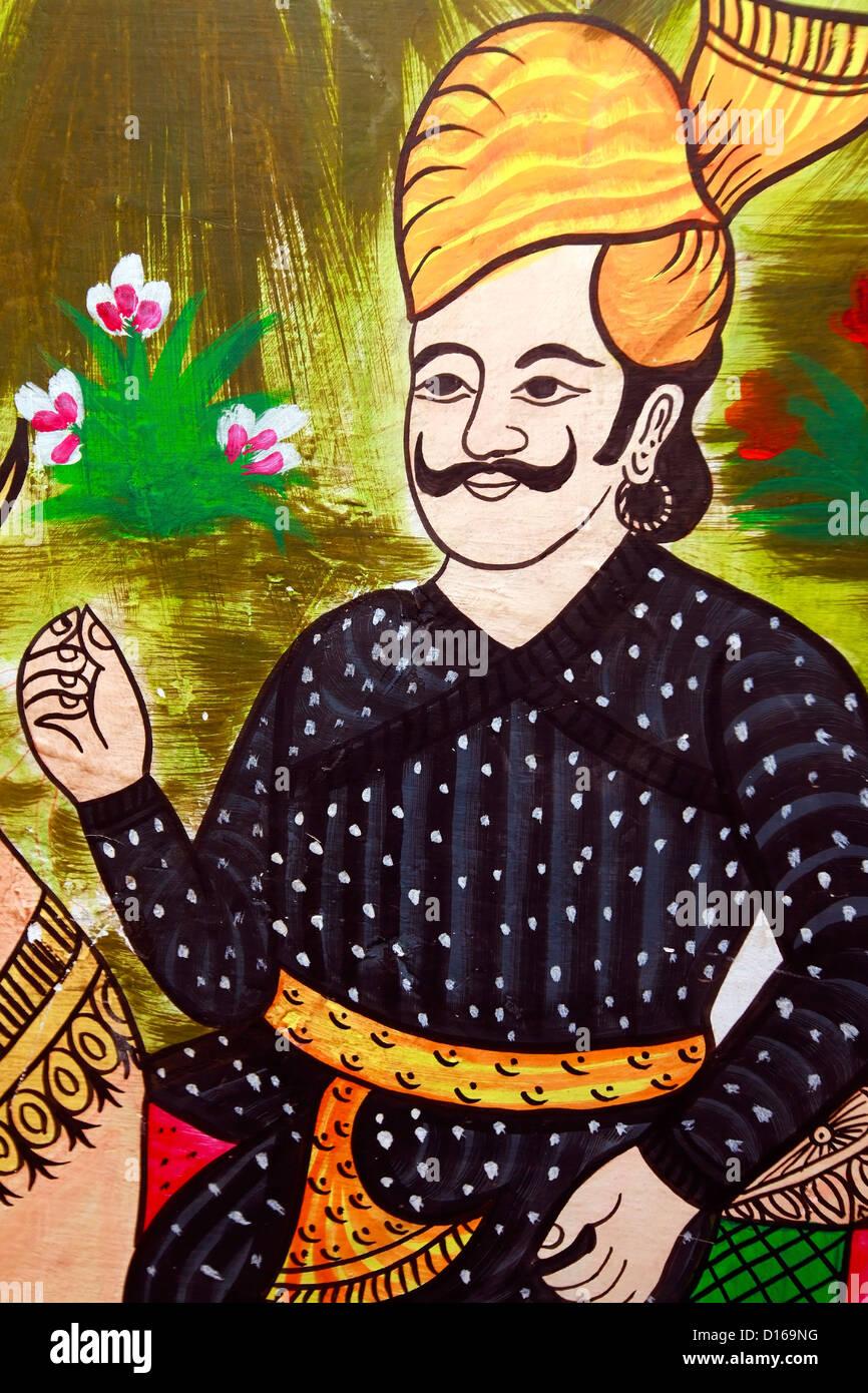 Affreschi a Jaipur rajasthan affreschi a Jaipur rajasthan Immagini Stock