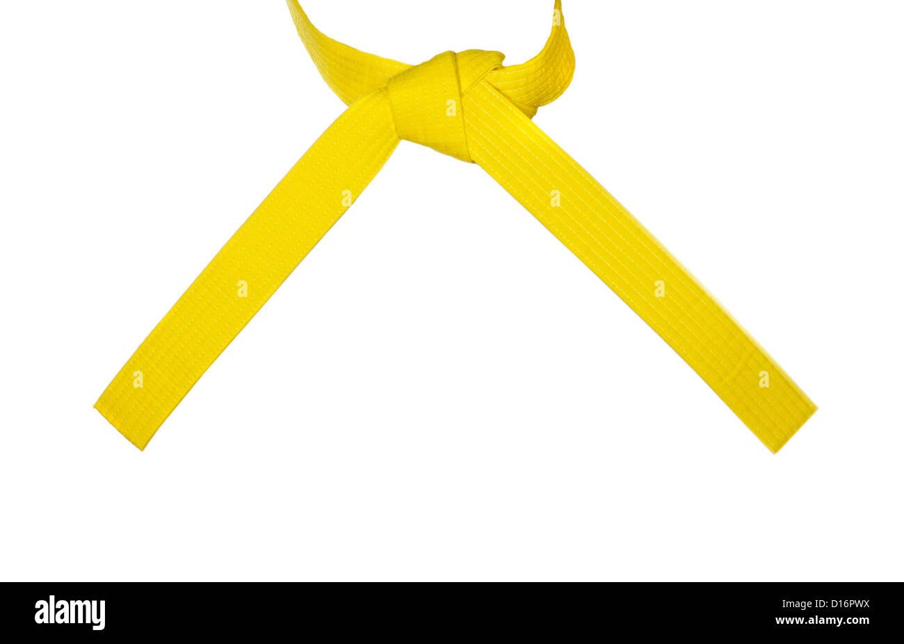 meticolosi processi di tintura Vendita calda 2019 negozio ufficiale Il Karate di cintura gialla legata legato con un nodo Foto ...