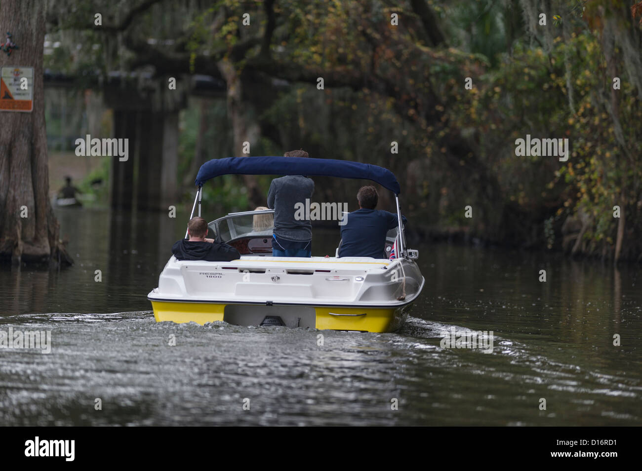 Touring il supporto Dora Canal nella Florida Centrale USA Foto Stock